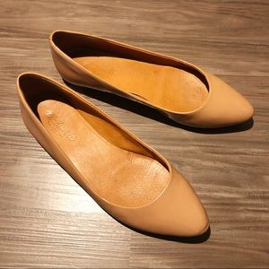 Madewell Nude Patent Leather Flats